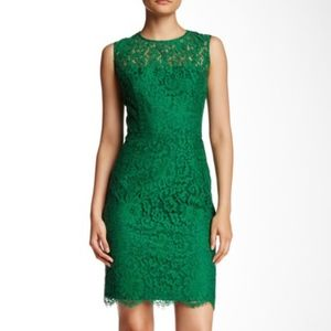 NWT Alexia Admor Green Lace Bow Sheath Dress M